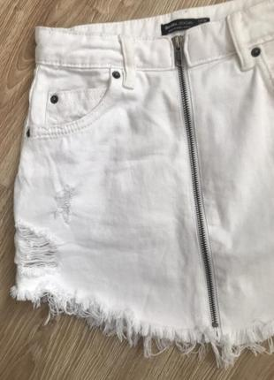 Джинсивая юбка bershka3