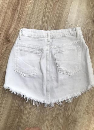 Джинсивая юбка bershka5