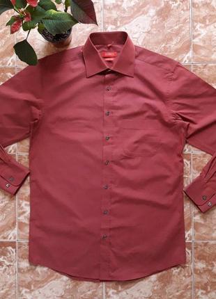 Немецкая рубашка gilberto, slim fit,m.