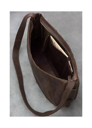 "Женская кожаная сумка ""круассан""2"