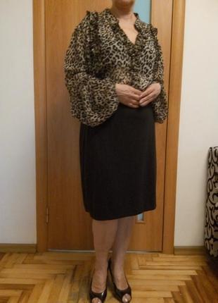 Хорошенькое комбинированное платье большого размера1