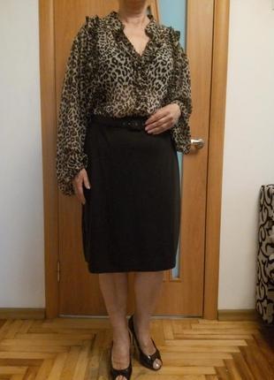 Хорошенькое комбинированное платье большого размера6