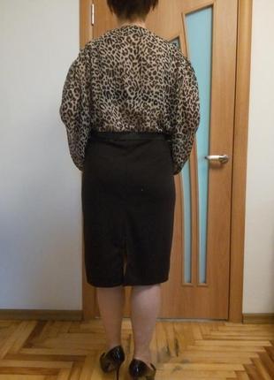 Хорошенькое комбинированное платье большого размера7