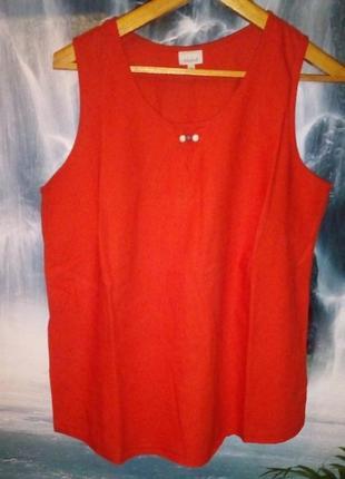 Блуза без рукавов с декором большого размера1