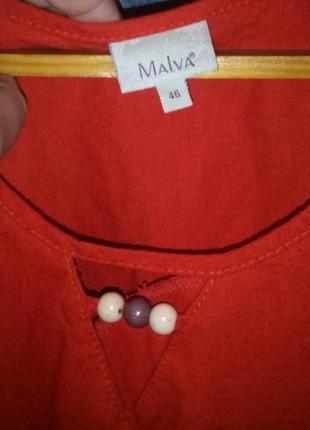 Блуза без рукавов с декором большого размера3