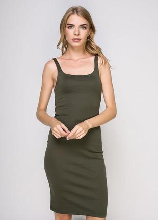 Качественное стильное платье по фигуре от zara рр m2