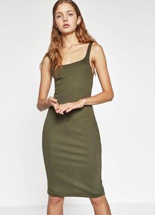 Качественное стильное платье по фигуре от zara рр m1