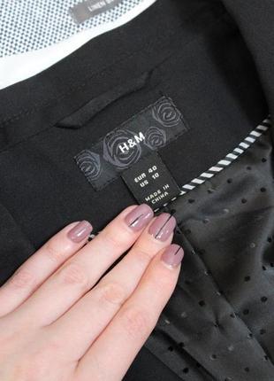 Обнова! блейзер пиджак жакет классика удлиненный качество шерсть в составе новый h&m4