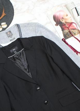 Обнова! блейзер пиджак жакет классика удлиненный качество шерсть в составе новый h&m3