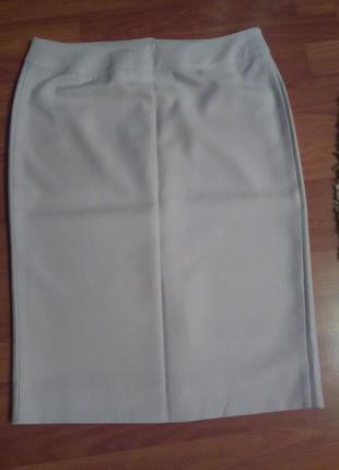 Светло серая классическая юбка1