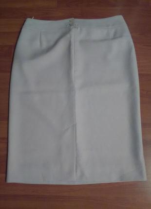 Светло серая классическая юбка2