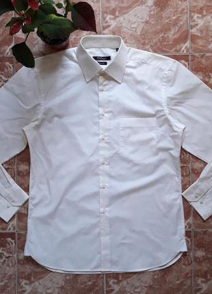 Рубашка mcneal в желтую полоску ,полу приталенная,m(50).