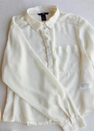 Шифоновая базовая блуза h&m5