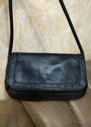Стильная кожаная сумка на плечо ertuel1