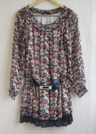 Длинная блуза туника-платье1