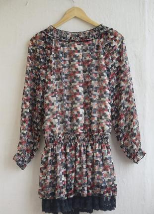 Длинная блуза туника-платье2