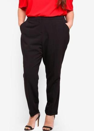 Обнова! брюки штаны классика зауженные укороченные черные новые бренд1