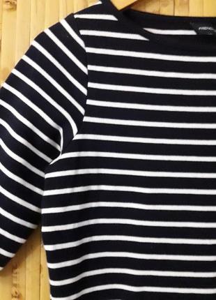 Стрейч платье в полоску тельняшка бренд french connection2