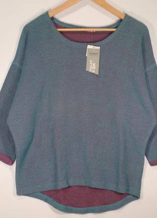 Классная кофта оверсайз женская свитшот итальянского бренда terranova р. м1