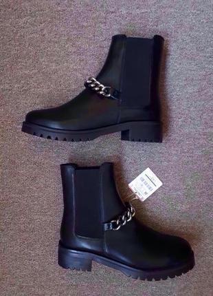 Стильные ботинки с цепочкой stradivarius5