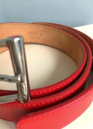 Ремень кожаный фирменный furla оригинал, s/m/l/xl.4