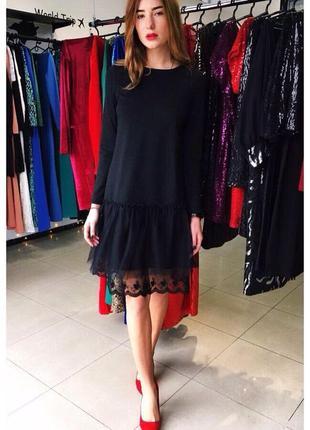 Черное дизайнерское платье oddi1