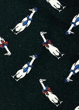 Небольшой стильный платок гусь в галстуке , италия 🐥10