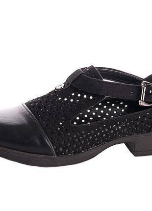 Черные туфли с перфорацией1