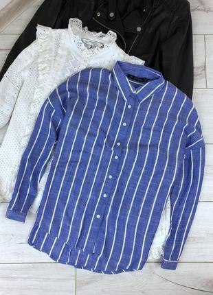 Голубая блузка в полоску zara4