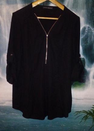 Шифоновая блуза - туника королевского размера1