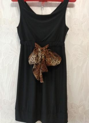 Чёрное платье zoi women1