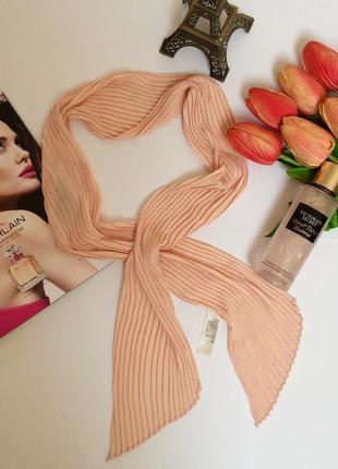 Стильный весенний персиковый плиссированный шарф шарфик  h&m2