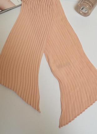 Стильный весенний персиковый плиссированный шарф шарфик  h&m3