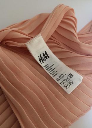 Стильный весенний персиковый плиссированный шарф шарфик  h&m5