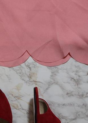 Обнова! шорты пудра розовые фигурный край atmosphere новые большой размер3
