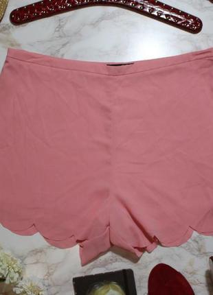 Обнова! шорты пудра розовые фигурный край atmosphere новые большой размер2