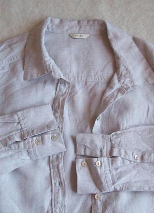 Рубашка натуральный лён, длина 75 см.3