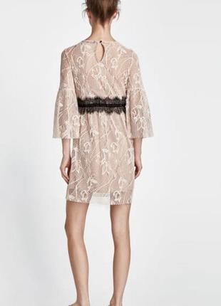 Кружевное платье zara1