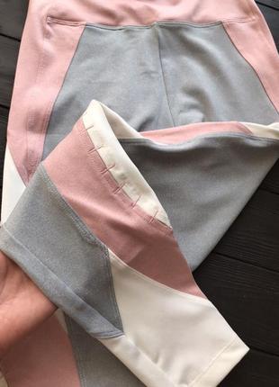 Новые с этикеткой лосины oysho спортивные фитнес леггинсы розовые4