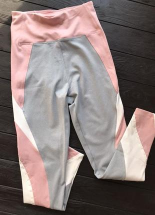 Новые с этикеткой лосины oysho спортивные фитнес леггинсы розовые6