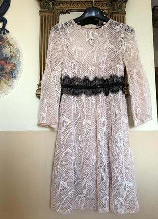 Кружевное платье zara7