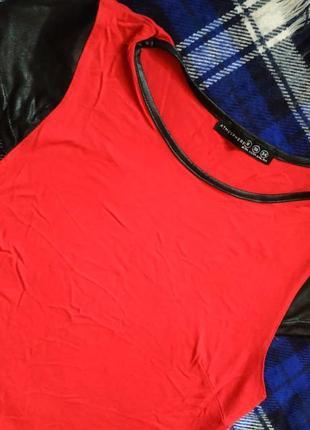 Красное платье-миди1