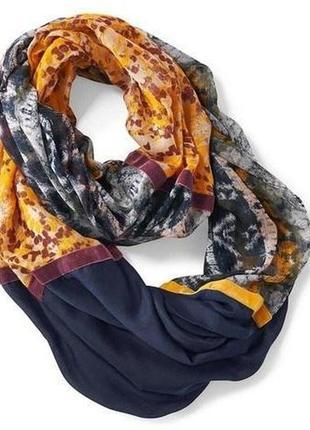 Многоцветный трубчатый шарф в лоскутном стиле tcm tchibo   германия