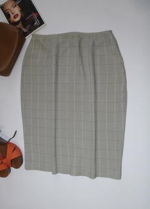 19a99796204 Легкая классическая юбка в клетку 16 размера