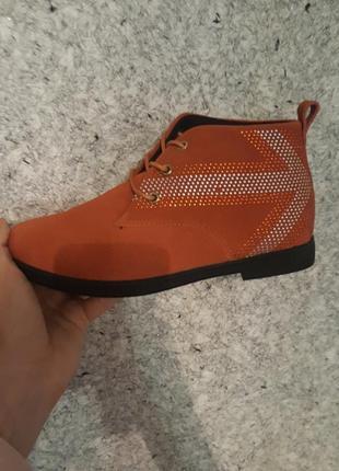 Натуральный замш ботинки1