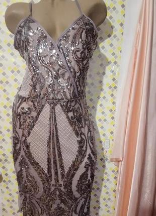 Нарядное платье пайетки quiz