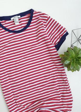 Базовая футболка в полоску синяя красная3