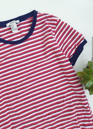 Базовая футболка в полоску синяя красная4