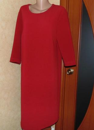 Красное прямое платье ботал!!! (46-48 евро)1