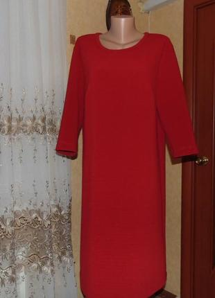 Красное прямое платье ботал!!! (46-48 евро)5